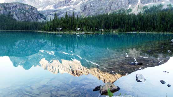 Reflections in Lake O'Hara in the morning