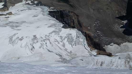 The very fractured Victoria Glacier