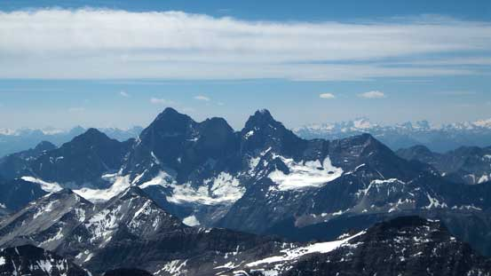 The three peaks on Mt. Goodsir
