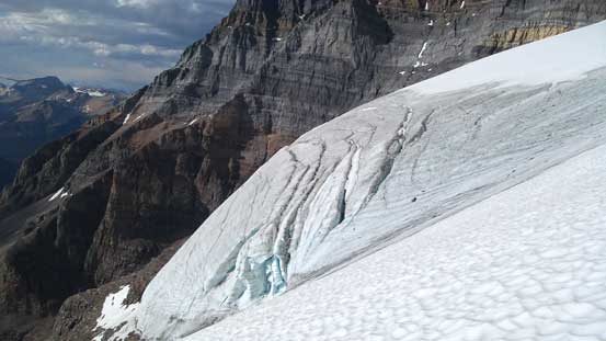 Here's the toe of the first Huber glacier