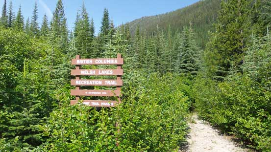 The trail-head sign