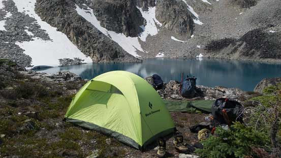 Here's my tent - very spacious as a solo tent.