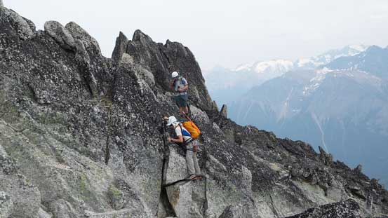Typical scrambling near the ridge