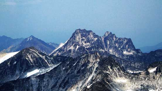 Donard Peak rises behind the ridge of Killarney Peak