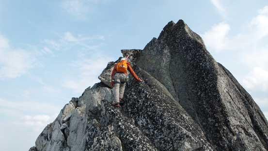 Ben reascending back up the false summit