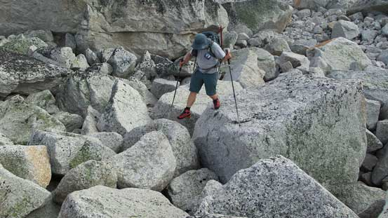 Oh here came the boulder field...