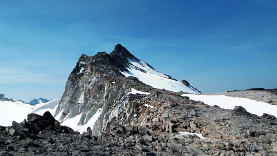 Here's our objective - Gwendoline Mountain