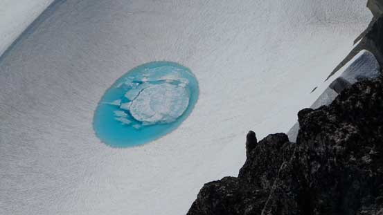 A neat pond on the glacier