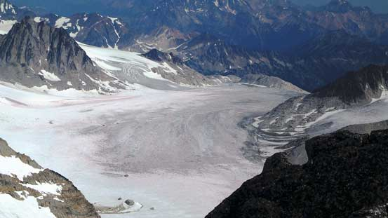 Catamount Glacier is mostly dry already!!