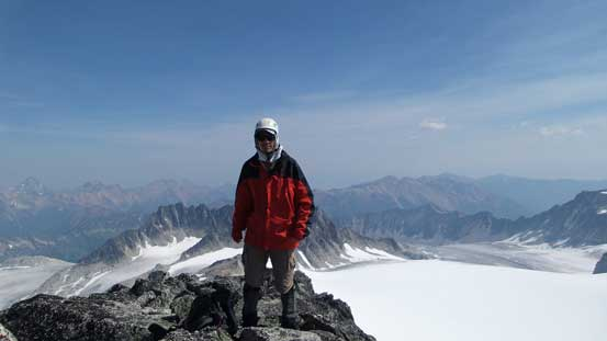 Me on the summit of Gwendoline Mountain