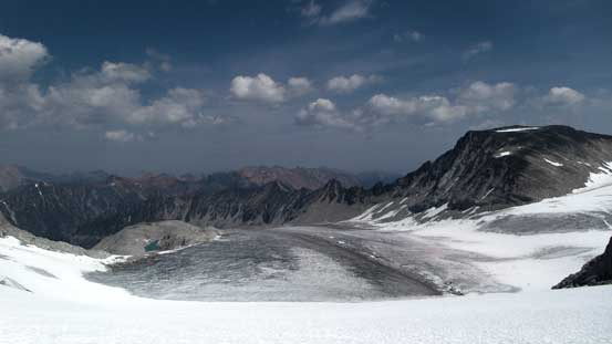 The lower North Star Glacier was dry
