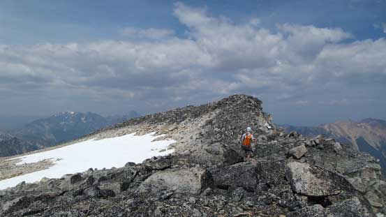 Ahead would be the true summit