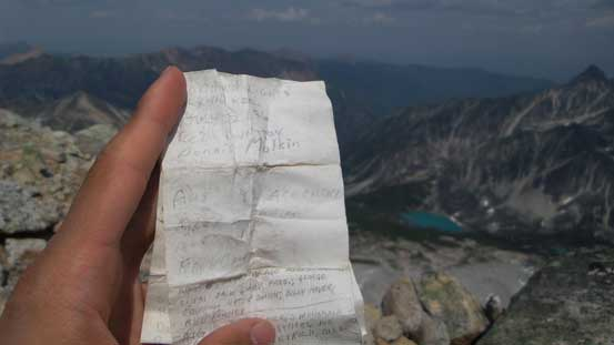 The very old summit register