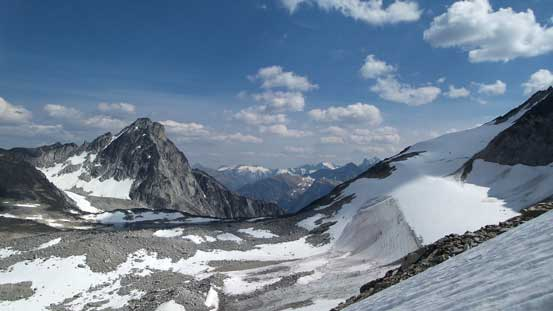 Gorgeous view towards Gelway Peak and Centaurus Glacier