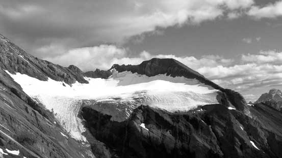 We got a bird-eye view of the glacier that we had to ascend the following day.