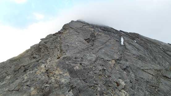 Looking ahead to the W. Ridge terrain