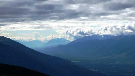 Looking far SE down the Trench towards Valemount area