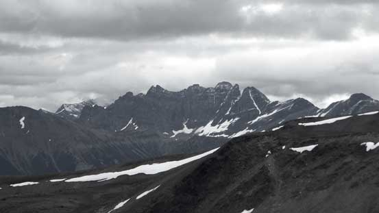 Some impressive peaks nearby are unnamed
