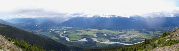 Panorama of the Trench, also Fraser River Valley
