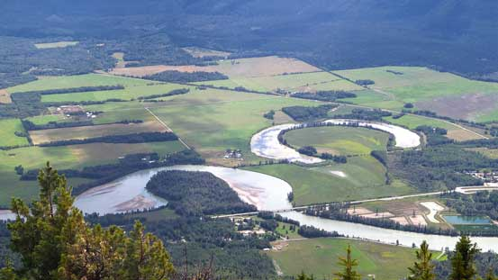 Fraser River and some interesting river valley scenery