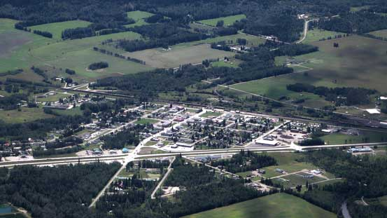 The small town of McBride