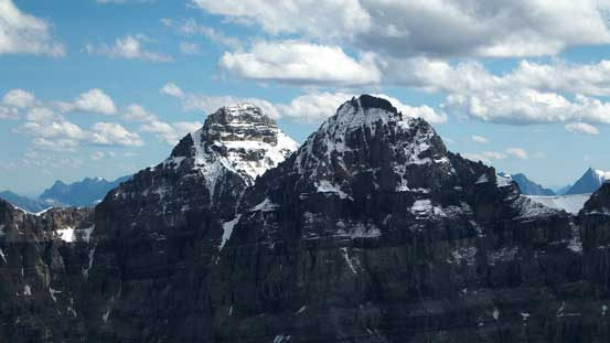 Mt. Tuzo (R) and Mt. Allen (L)