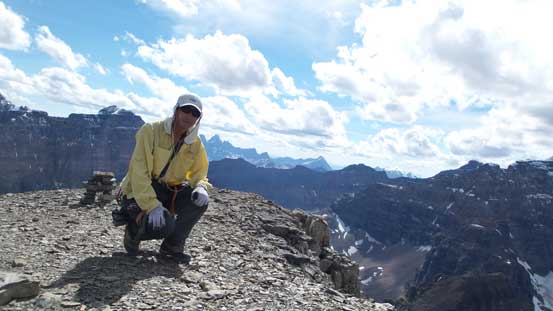 Me on the summit of Eiffel Peak