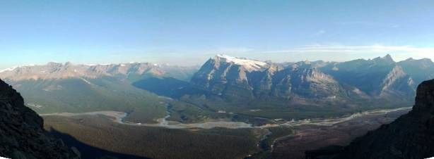 Great panorama of N. Saskatchewan River Valley