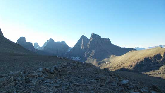 The Murchison Towers from the 'bivy site' (that I didn't use to bivy)