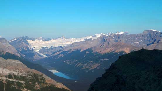 The Lyell Icefield and Glacier Lake