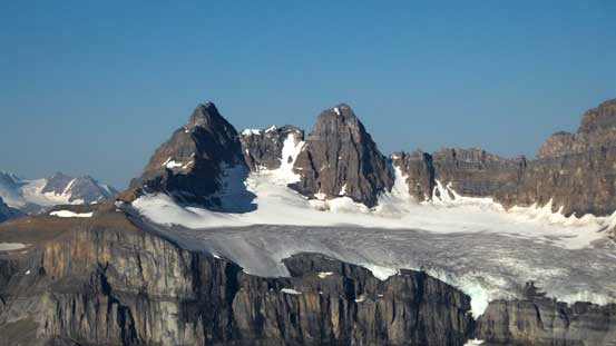 The twin summits of Kaufmann Peaks