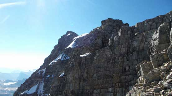 A view along the summit ridge