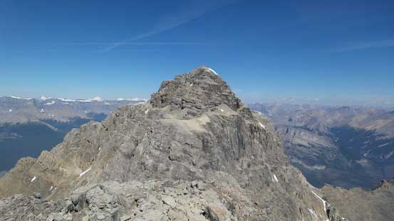 Looking back towards the NW Peak