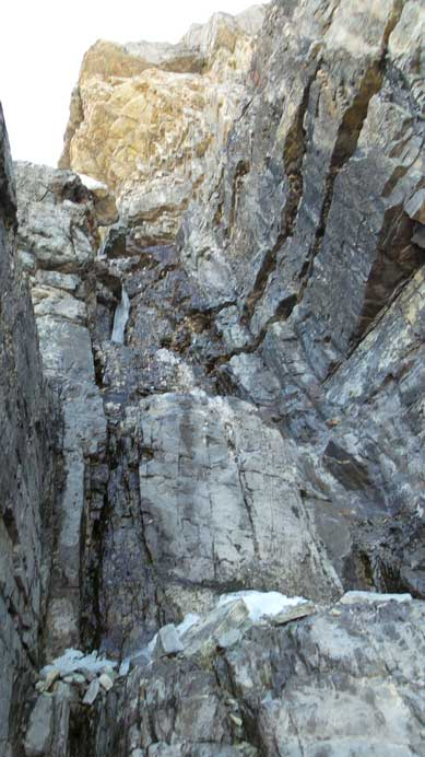 This is the crux gully/chimney