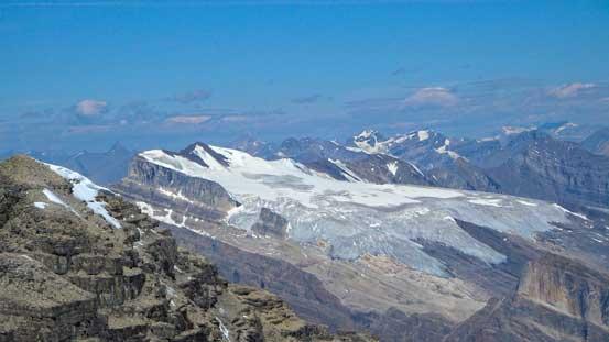 The massive icefield on Mt. Wilson