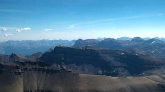 Corona Ridge at center. It looks fairly uninteresting from this vantage point