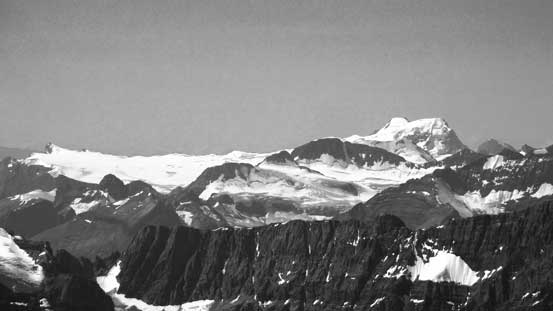 Mt. Mummery is a giant on the edge of Freshfield Icefield