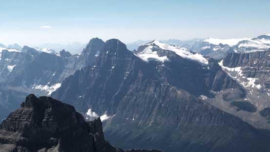 Howse Peak, Mt. Chephren, White Pyramid - bagged them all.