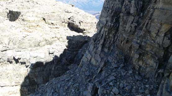 A key ledge traverse