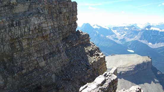 This is another key traverse. Would be a better picture with a climber on it...