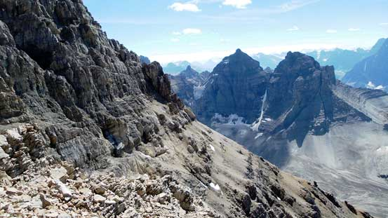 Looking across the typical terrain towards some of the Murchison Towers