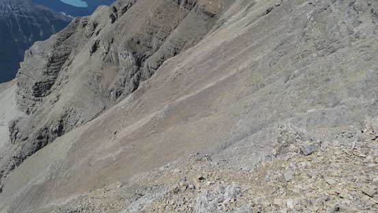 And then, descend/traverse this down-sloping terrain.
