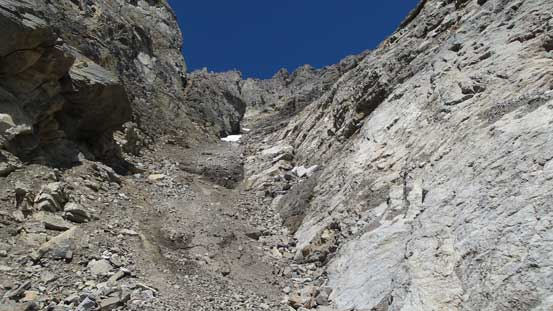 The lower (main) gully