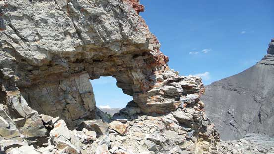An interesting rock window