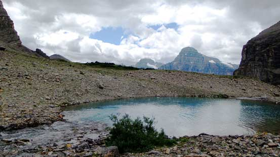 This is actually just a small tarn before the lower Totem Lake
