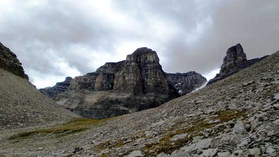 "On the other side of the ""Totem Pass"", looking back towards the Murchison Towers"