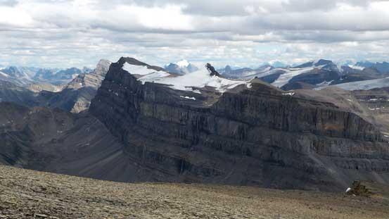 """Marmota Peak"" and its impressive cliffs"