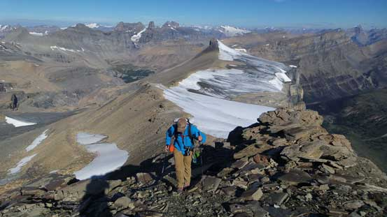 Vern approaching the summit of Marmota Peak