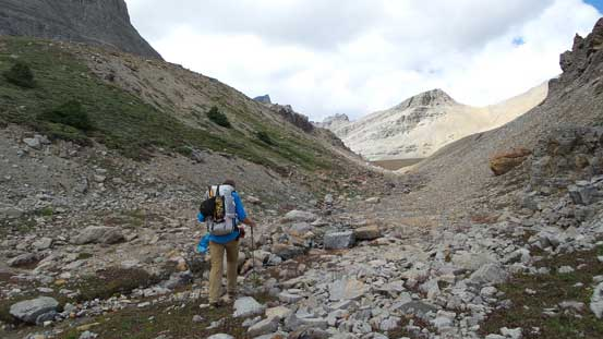 Slogging back towards Totem Pass