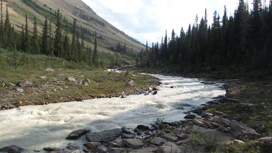 """Down to the unnamed creek/river by """"Valley to the North"""" now."""